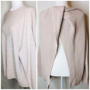 NWT H&M twist open back shrug cape sweater L 0332